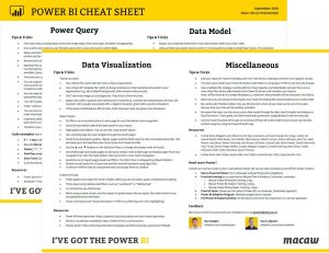 Power BI Cheat Sheet thumbnail