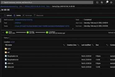 Azure Batch Task