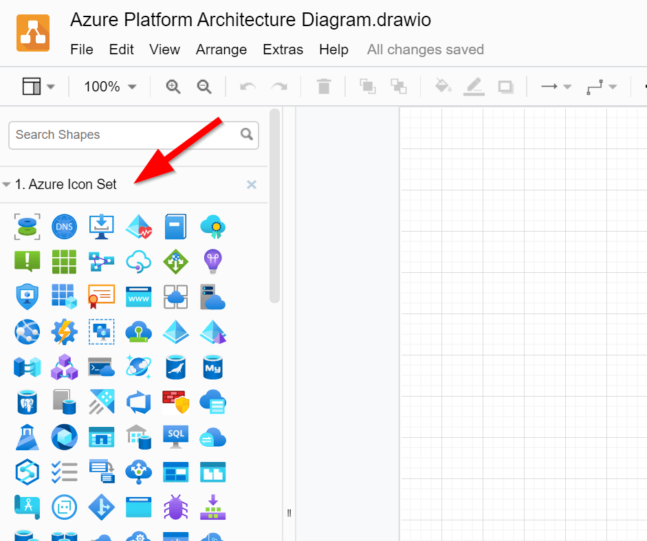 Working With Azure Icons In Draw Io Diagrams Net Modern Data Ai
